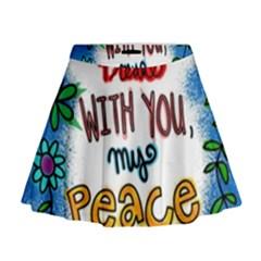 Christian Christianity Religion Mini Flare Skirt