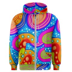 Abstract Pattern Painting Shapes Men s Zipper Hoodie