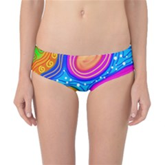 Abstract Pattern Painting Shapes Classic Bikini Bottoms
