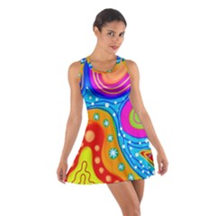 Abstract Pattern Painting Shapes Cotton Racerback Dress
