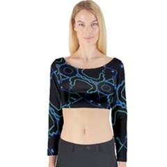 Warp Long Sleeve Crop Top