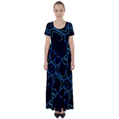 Warp High Waist Short Sleeve Maxi Dress