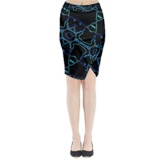 Warp Midi Wrap Pencil Skirt