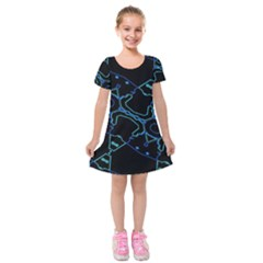 Warp Kids  Short Sleeve Velvet Dress