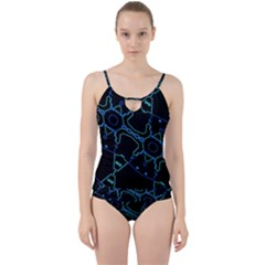 Warp Cut Out Top Tankini Set