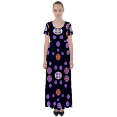 Planet Say Ten High Waist Short Sleeve Maxi Dress