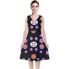 Planet Say Ten V Neck Midi Sleeveless Dress