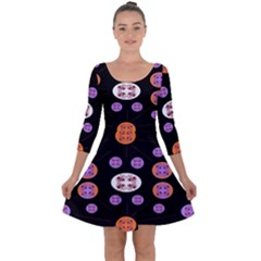 Planet Say Ten Quarter Sleeve Skater Dress