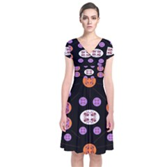 Planet Say Ten Short Sleeve Front Wrap Dress