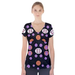 Planet Say Ten Short Sleeve Front Detail Top
