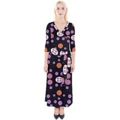 Planet Say Ten Quarter Sleeve Wrap Maxi Dress