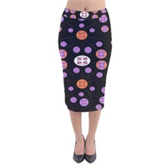 Planet Say Ten Velvet Midi Pencil Skirt