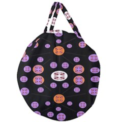 Planet Say Ten Giant Round Zipper Tote