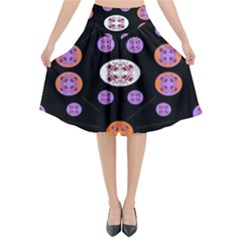 Planet Say Ten Flared Midi Skirt