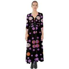 Planet Say Ten Button Up Boho Maxi Dress
