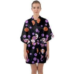 Planet Say Ten Quarter Sleeve Kimono Robe