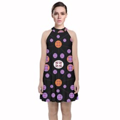 Planet Say Ten Velvet Halter Neckline Dress