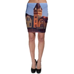 Blue Hour Colliery House Bodycon Skirt