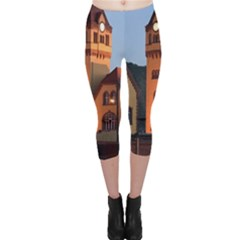 Blue Hour Colliery House Capri Leggings