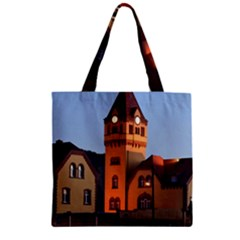 Blue Hour Colliery House Zipper Grocery Tote Bag