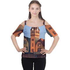 Blue Hour Colliery House Cutout Shoulder Tee