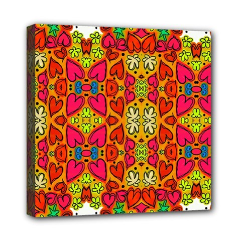 Abstract Background Pattern Doodle Mini Canvas 8  X 8