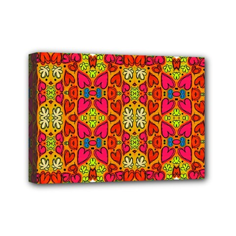 Abstract Background Pattern Doodle Mini Canvas 7  X 5