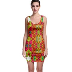 Abstract Background Pattern Doodle Bodycon Dress