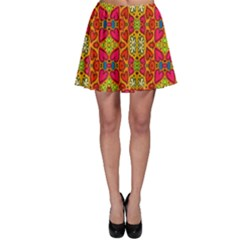 Abstract Background Pattern Doodle Skater Skirt