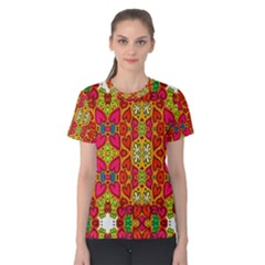 Abstract Background Pattern Doodle Women s Cotton Tee