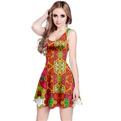 Abstract Background Pattern Doodle Reversible Sleeveless Dress