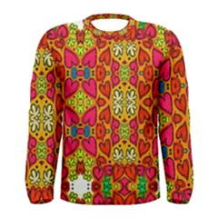 Abstract Background Pattern Doodle Men s Long Sleeve Tee