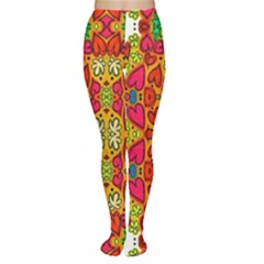 Abstract Background Pattern Doodle Women s Tights