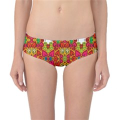Abstract Background Pattern Doodle Classic Bikini Bottoms