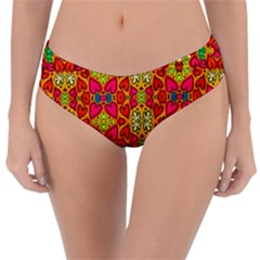 Abstract Background Pattern Doodle Reversible Classic Bikini Bottoms