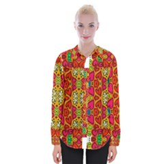 Abstract Background Pattern Doodle Womens Long Sleeve Shirt