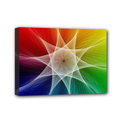 Abstract Star Pattern Structure Mini Canvas 7  X 5