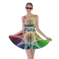 Abstract Star Pattern Structure Skater Dress