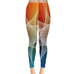 Abstract Star Pattern Structure Leggings