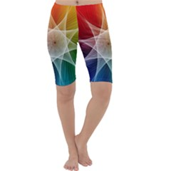 Abstract Star Pattern Structure Cropped Leggings
