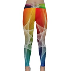 Abstract Star Pattern Structure Classic Yoga Leggings