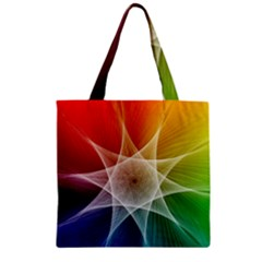 Abstract Star Pattern Structure Zipper Grocery Tote Bag