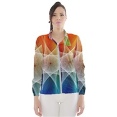 Abstract Star Pattern Structure Wind Breaker (women)