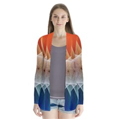 Abstract Star Pattern Structure Drape Collar Cardigan