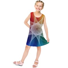 Abstract Star Pattern Structure Kids  Tunic Dress