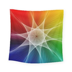 Abstract Star Pattern Structure Square Tapestry (small)