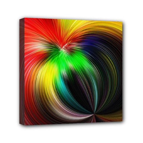 Circle Lines Wave Star Abstract Mini Canvas 6  X 6