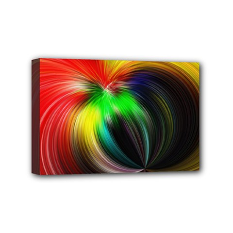 Circle Lines Wave Star Abstract Mini Canvas 6  X 4