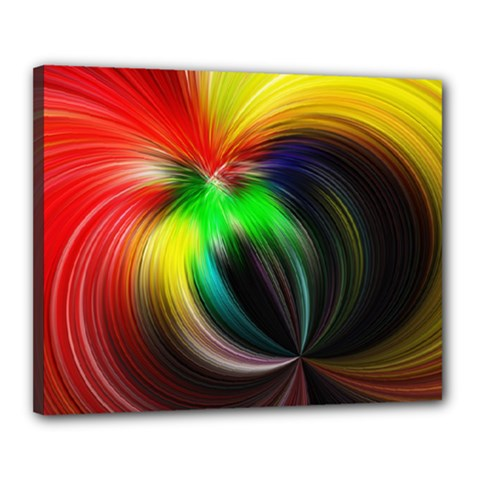 Circle Lines Wave Star Abstract Canvas 20  X 16