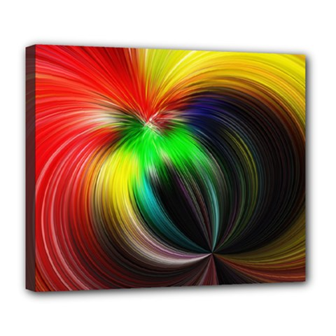 Circle Lines Wave Star Abstract Deluxe Canvas 24  X 20